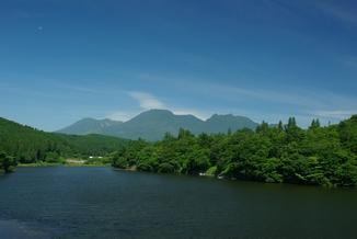 長湯ダムより見た久住山